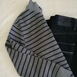 Cherokee striped sweater